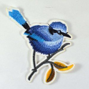 Other - 1pc Blue Bird Flowers Embroidered Iron on Patches